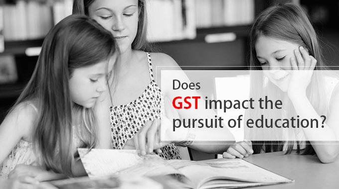 Does GST impact the pursuit of education?