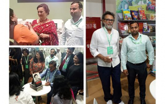 Bollywood superstars Shatrugan Sinha & Asha Parekh and filmmaker Rakesh Om Prakash Mehra visited the Abu Dhabi International Book Fair