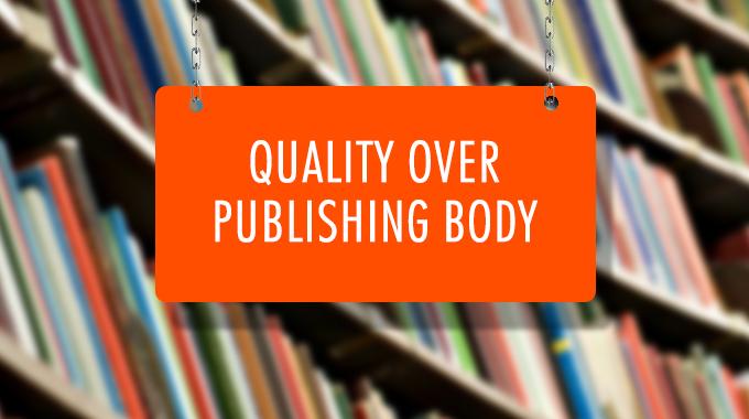 Quality Over Publishing Books