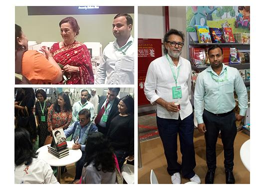 Bollywood superstars Shatrugan Sinha & Asha Parekh and filmmaker Rakesh Om Prakash Mehra visited the Abu Dhabi International Book Fair