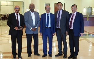 With my fellow Federation of Indian Publishers members & Dr Yousuf Adyabi from Al Qasmi Publication